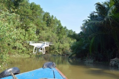 Drohne Vietnam Fluss Kanal
